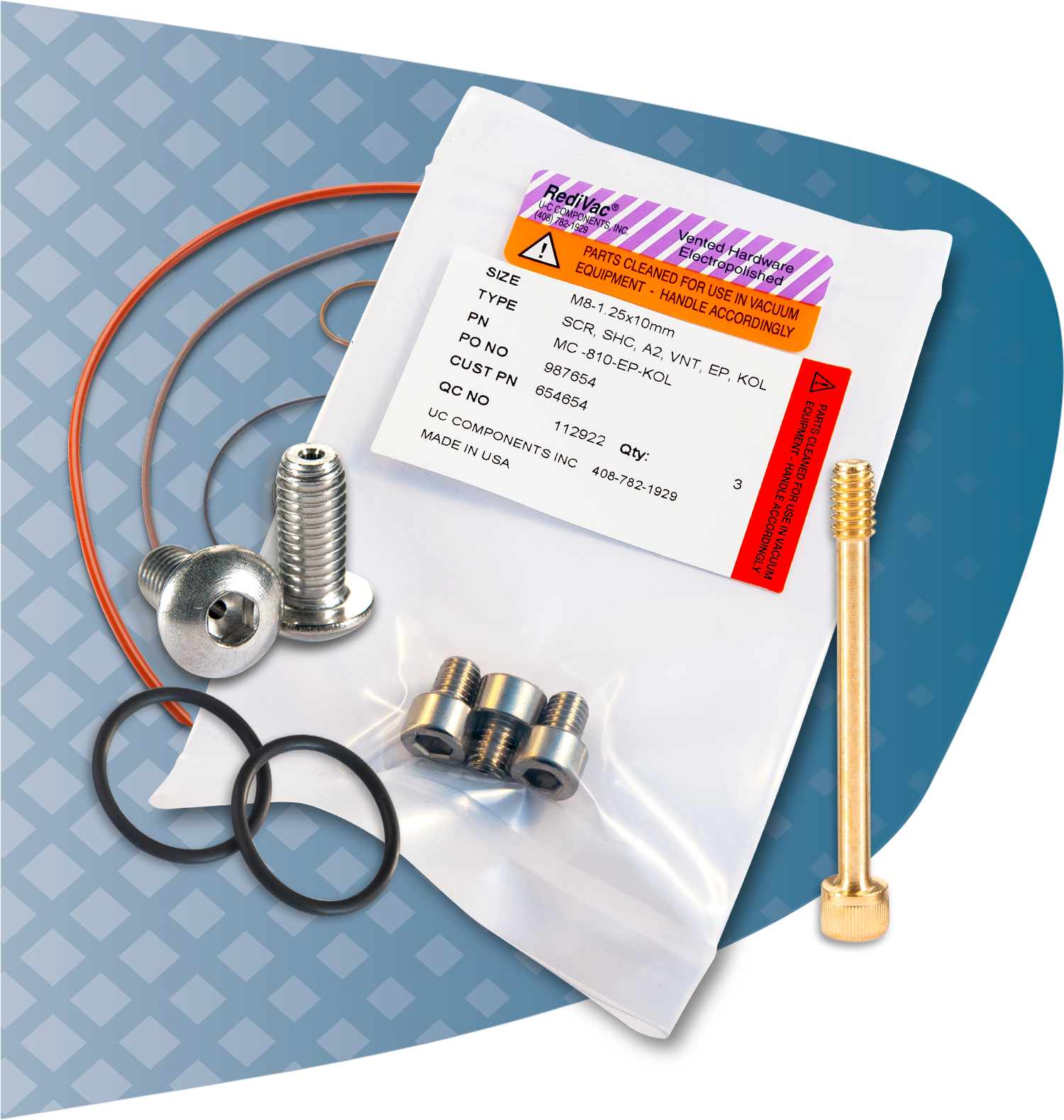 UC RediVac® fasteners and o-rings