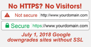 Google Marking Sites Without SSL Certificates NOT SECURE